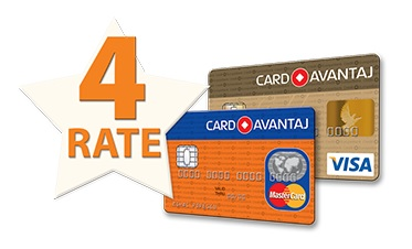 Card Avantaj 4 rate
