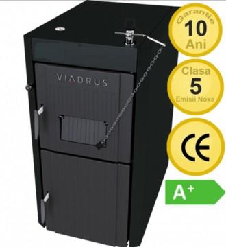 Poza Centrala termica pe lemne din fonta cu gazeificare Viadrus U22 Economy 25 kW
